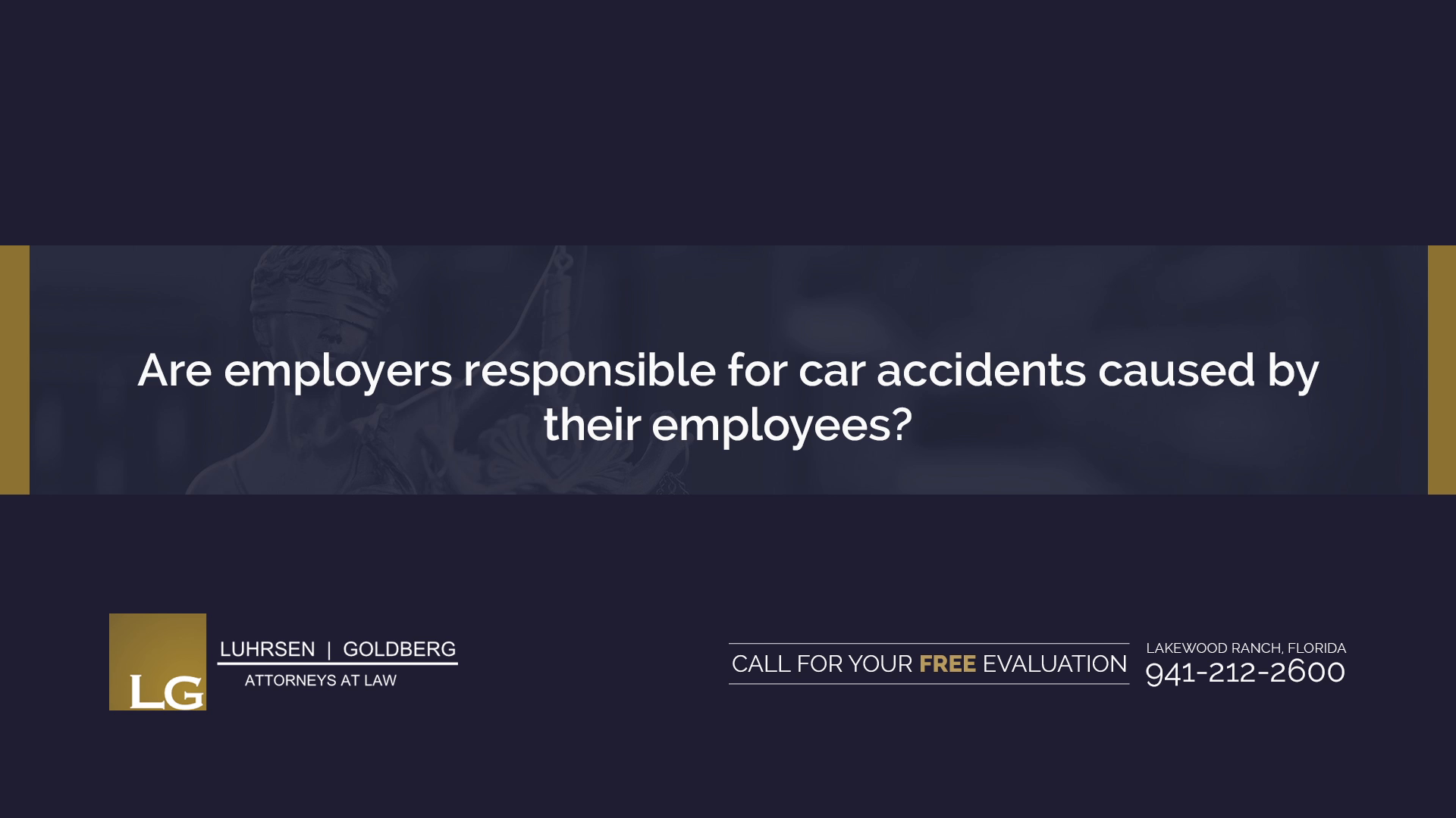 Are employers responsible for car accidents caused by their employees?